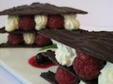 Mille-feuille z čokolády a malin recept