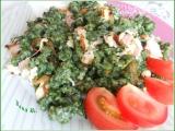 Špenátové halušky s osmaženou cibulí, Nivou a šunkou recept ...