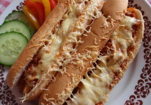 Sloppy Joes  zapečený sendvič