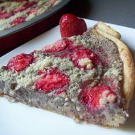 Listový koláč s jahodami a mákem recept
