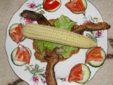 Bedly na kmíně s plackami a kukuřicí recept
