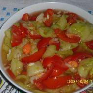 Okurkovo-rajčatový salát recept