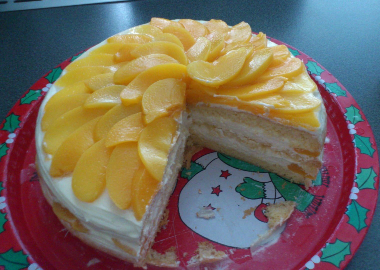 Snadný broskvový dort recept
