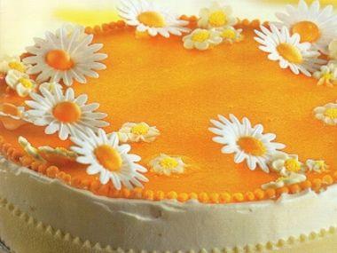 Kopretinový dort  dia 332g sacharidů (bez marcipánu)