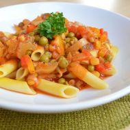 Těstoviny s rychlou zeleninovou omáčkou recept
