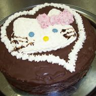 Holčičí čokoládový dort recept