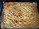 Pudinkové řezy s jablky recept
