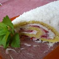 Roláda s jahodami a tvarohovým krémem recept