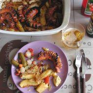 Zapečené párky s brambory a zeleninou recept