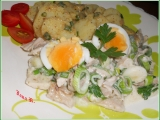 Letní kuřecí salát s brambory recept