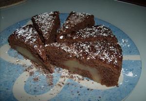 Čokoládové řezy s hruškami