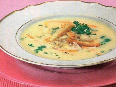 Rybí polévka  jemně krémová