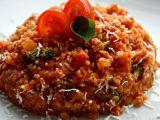 Kuskus s červenou čočkou a rajčaty recept