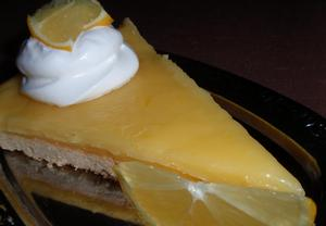 Citronový nebo pomerančový koláč (řez)  křehký a pikantní ...