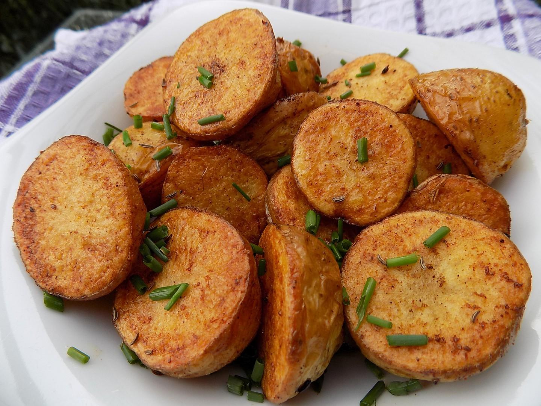 Pečené kmínové brambory recept