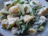 Bramborový salát s fazolkami, avokádem a hráškem recept ...