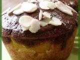 Dvoubarevné muffiny s broskvemi recept