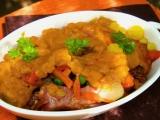 Zeleninový nákyp s uzeným masem recept