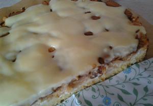 Jablečný koláč s tvarohem