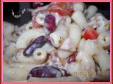 Těstovinový salát se zeleninou, fazolema a koprem recept ...