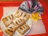 Jablkové šátečky z tvarohového těsta recept