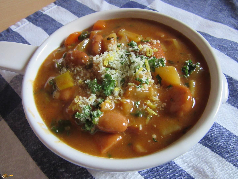 Frankfurtská polévka s červenými fazolemi recept
