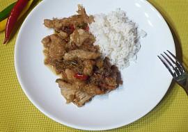 Vepřové stripsy s rýží recept
