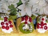 Ovocno-šlehačkové řezy recept