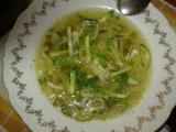 Zelená česneková polévka recept