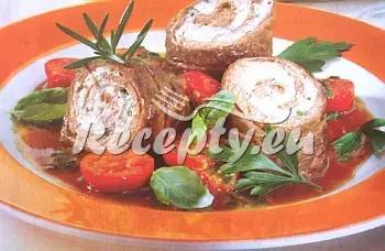 Pikantní bylinkové závitky recept  hovězí maso
