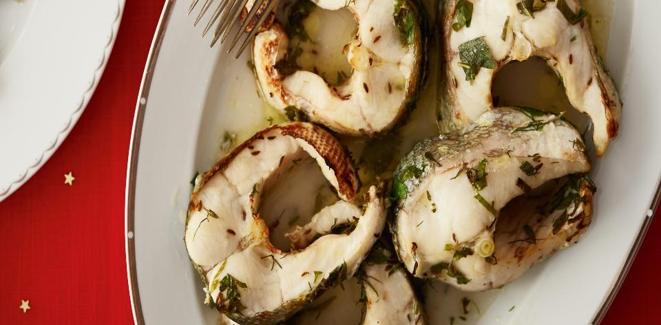 Štika na másle a bylinkách