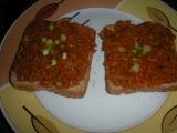 Toasty s pomazánkou ze sojového granulátu recept