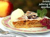 Švédský jablečný koláč äppelkaka recept