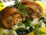 Vepřové závitky s dušenou kapustou recept