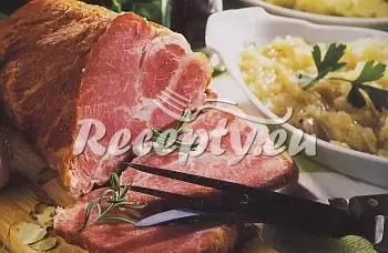 Brambory zapečené s uzeným recept  uzené maso