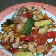 Opečená zelenina s masem recept