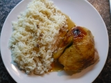 Pečené kuře s medem a jablky recept