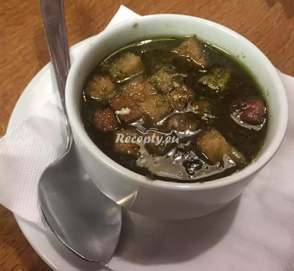 Smetanová česnečka recept  polévky