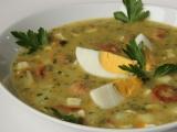 Bramborová polévka s vejci a párkem recept