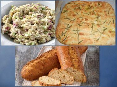 Rychlý salát s rozmarýnovým chlebem