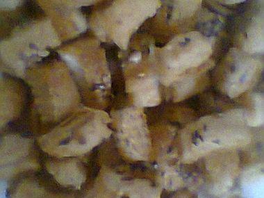 Čtverečky z listového těsta,slané