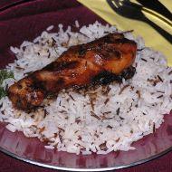 Medové stehno s divokou rýží recept