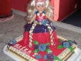 Velký dort s panenkou recept