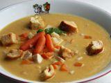 Celerová krémová polévka s mrkví a kuřecím masem recept ...