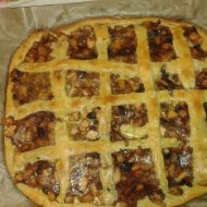 Mřížkový koláč s kousky jablek recept