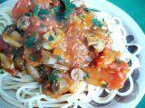 Špagety s rajčatovou omáčkou a houbami recept