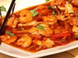 Sladkokyselé olihně ( kalamáry) a krevety recept