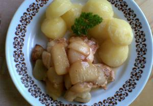 Kuře s jablky a karamelem