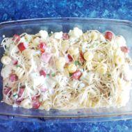 Zapečené těstoviny s květákem recept