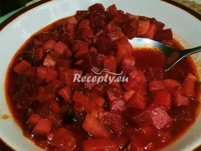 Boršč z kořenové zeleniny recept  polévky